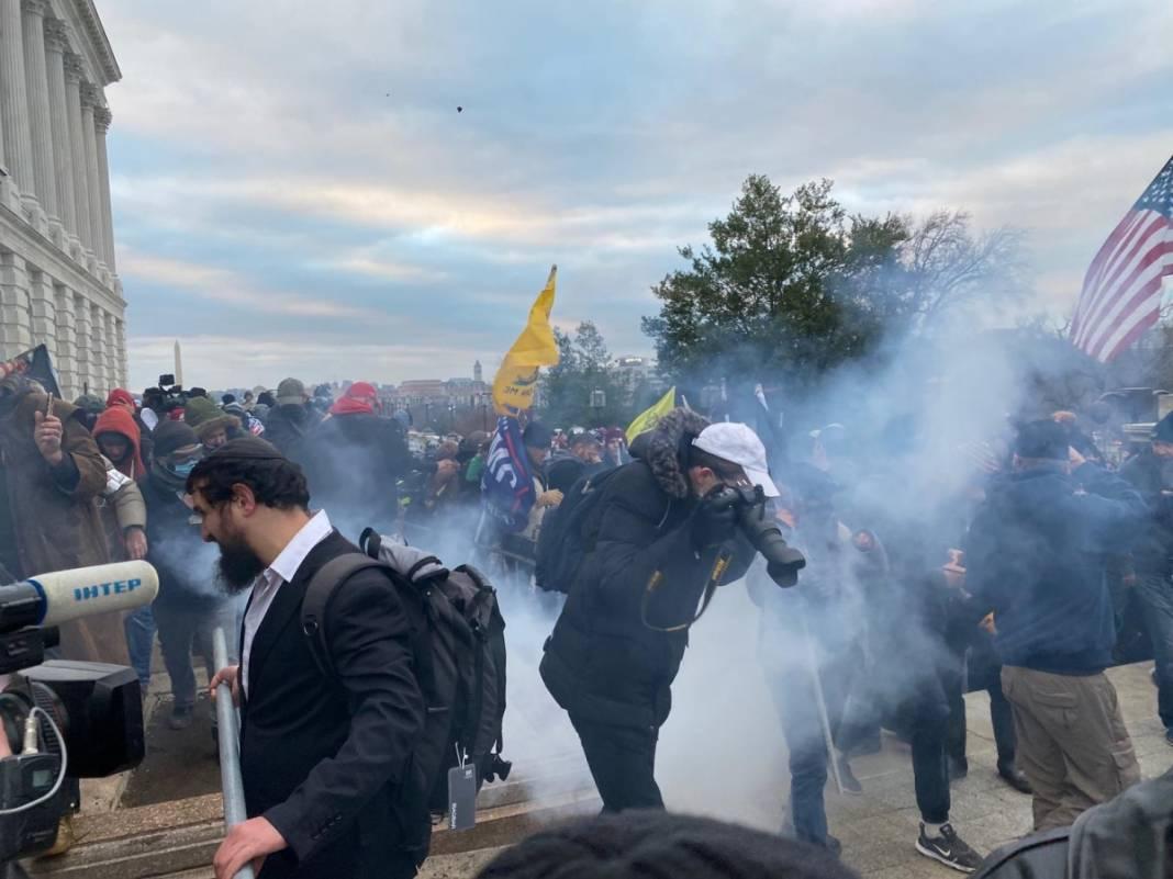 Trump ateşi! Kongre'yi bastılar, polisle çatıştılar 37