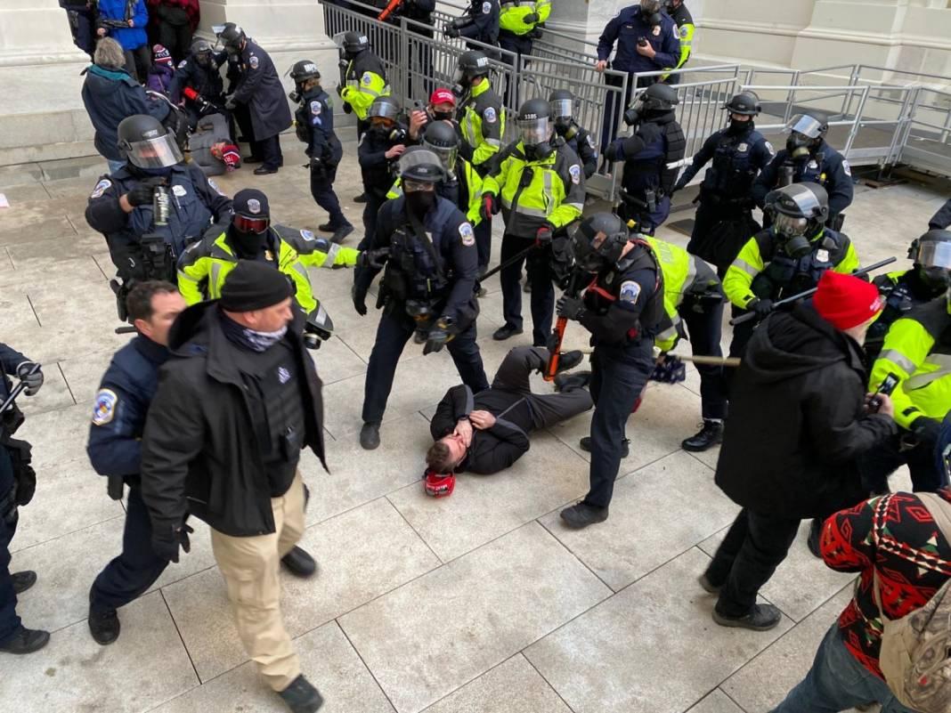 Trump ateşi! Kongre'yi bastılar, polisle çatıştılar 40