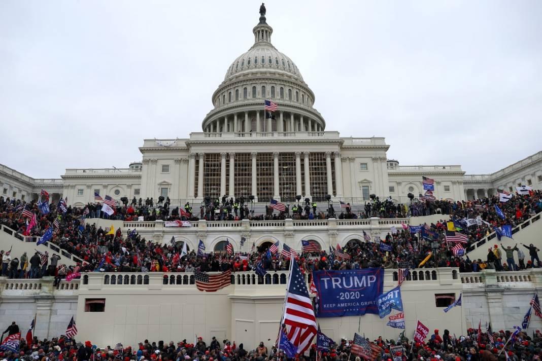 Trump ateşi! Kongre'yi bastılar, polisle çatıştılar 73