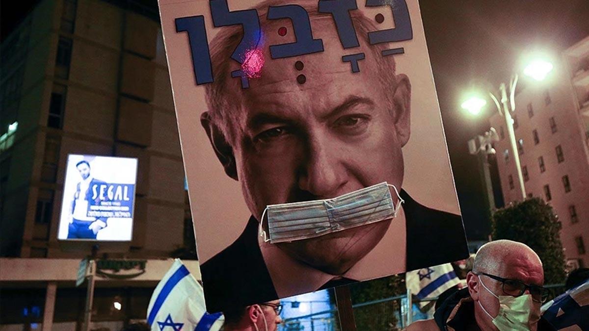 İsrail'de Netanyahu'ya yolsuzluk protestosu