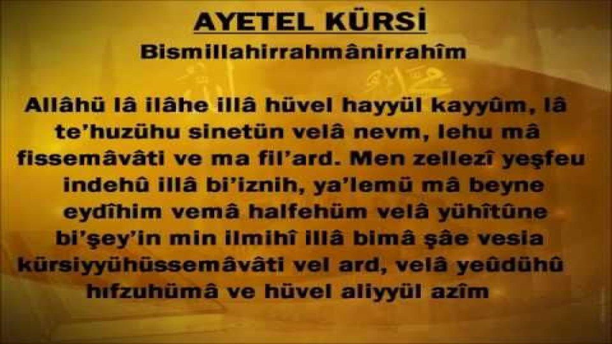 ayetel kursi nasil okunur turkcesi nedir