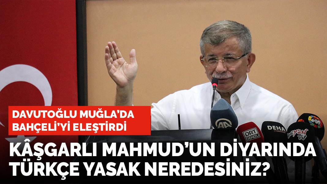 Ahmet Davutoğlu Bahçeli'yi sert eleştirdi