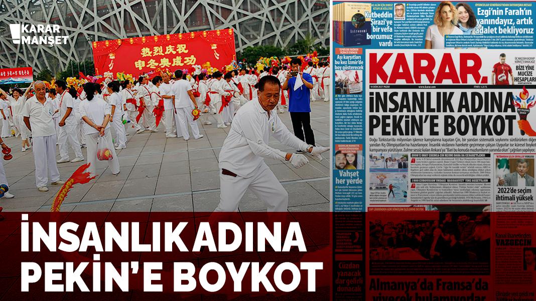 İnsanlık adına Pekin'e boykot