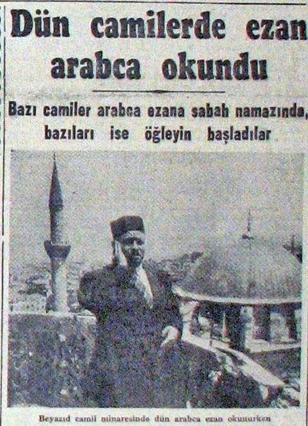 Türkçe ezan ilk ne zaman okundu?
